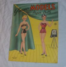 "Vintage 1940s UNCUT Stephens Publishing ""Glamour Models"" Paper Dolls Unused #177"
