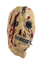 SCARY ZIPPER FACE MASK ADULT HALLOWEEN FANCY DRESS