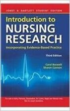 INTRODUCTION TO NURSING RESEARCH, 3/E by CAROL BOSWELL SHARON CANNON