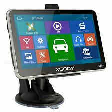 "XGODY 5"" Car GPS Navigation Touch Screen 4GB SAT NAV with SpeedCam POI Free Maps"