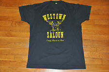 VTG 80s Westown Saloon Country Music Rockabilly trucker western bar T shirt M