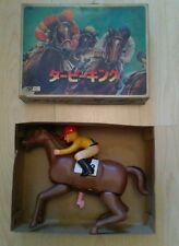 RARE VINTAGE HAJI MASUDAYA NOMURA WIND-UP RACE HORSE PLASTIC JAPAN ,  BOXED