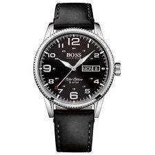 Hugo Boss Black Leather Pilot Edition Mens Watch 1513330