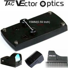 Vector Optics Tactical red dot scope Reflex Sight pistola Glock diapositiva base de montaje