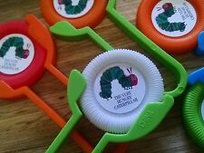 12 THE HUNGRY CATERPILLAR BOOK THEMED Disk SHooters~ birthday party favor treat
