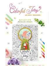 Colorful Jetoy Coloring Book Cute Choo Choo Cat Partial Colored Therapy Drawing