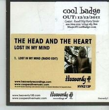 (CW118) The Head & The Heart, Lost In My Mind - 2011 DJ CD