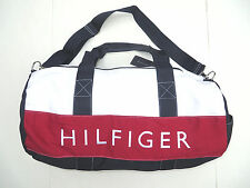 Tommy Hilfiger Large Gym Bag Duffle Travel women men handbag Navy Blue Red NEW