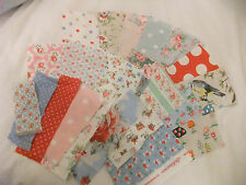 CATH KIDSTON FABRIC SCRAPS 15 PIECES SCRAP BOOKING  CRAFT CARD BUTTON MAKING