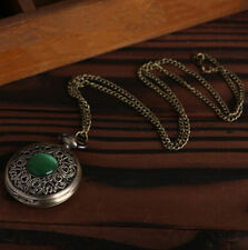 Pocket Watch  Quartz New Vintage Retro Mix Styles Bronze Hot Pendant Necklace