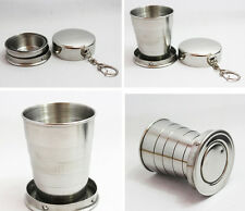 Collapsible Stainless Steel Pocket Travel Camping Cup for Outdoor Travel 2 Pc