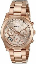 Fossil Women's ES3885 Perfect Boyfriend Multi-Function Rose Gold Steel Watch
