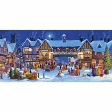 NEW! Gibsons Christmas in the Square 636 piece panoramic festive jigsaw puzzle