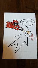 2016 SDCC COMIC CON EXCLUSIVE GEEK FUEL MARVEL DEADPOOL OUCHIE PROMO CARD