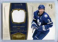 2010/11 PANINI DOMINION DION PHANEUF GAME-WORN MATERIAL 20/99