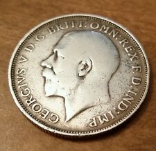 1919 One Florin Silver Coin King George, Sterling .925