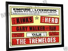 The Kinks Tremeloes Peter Frampton Concert Poster '68