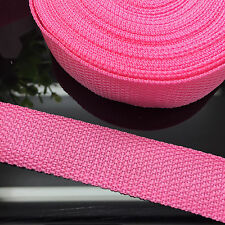 "NEW DIY 50 Yards 1"" 25mm Width Pink Nylon Webbing Strapping Sewing craft S06"