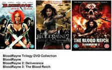 BLOODRAYNE TRILOGY DVD PART 1 2 3 MOVIE FILM Blood Rayne Rain Kristian Loken New