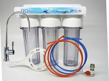 Clear Housing Under Sink 3 Stage Water Filter System Lead Free NSF Certified