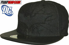 DC Comics Batman The Dark Knight Rises Denim/Faux Leather Snapback