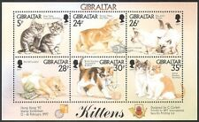 Gibraltar 1997 Kittens/Cats/Pets/StampEx/Animals/Nature 6v m/s (b5285)