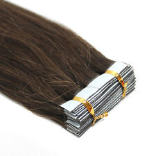 16'' 18'' 20'' Remy Human Hair Extensions Tape in Skin Weft Hair AAAAAAA US Ship