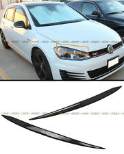 FOR 2015-2016 VW GOLF 7 GTI MK7 VII CARBON FIBER HEADLIGHT EYE LID EYELIDS COVER