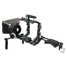 FILMCITY Shoulder Mount Camera Rig Follow focus Mattebox Hood Video Shot (FC-03)