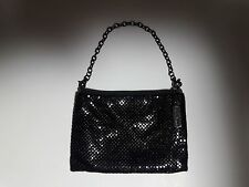 Whiting & Davis Black Mesh Evening Bag Handbag Clutch Purse
