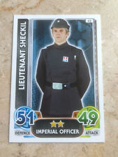 STAR WARS Force Awakens - Force Attax Trading Card #042 Lieutenant Sheckil