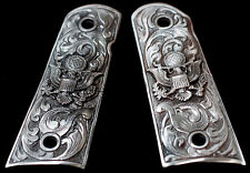 COLT 1911 CUSTOM GRIPS - SOLID PEWTER AMERICAN EAGLE US SEAL fit Kimber S&W more