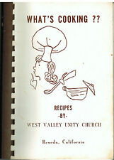 RESEDA CA VINTAGE *WEST VALLEY UNITY CHURCH *WHAT'S COOKING COOK BOOK *LOCAL ADS