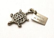 Turtle Bracelet Charm Vintage Bell Sterling Silver Florida Tortoise