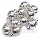 Free Shipping 10 Sets Silver Plated Round Magnetic Clasps for Jewelry Making 8mm