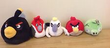 Angry Birds Working Sound 5 Piece Plush Lot Rio King Pig Large Black Red