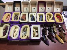 JUST THE RIGHT SHOE Lot of 18 Asst Shoes - some w/Boxes & Name Cards