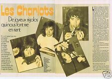 Coupure de presse Clipping 1972 Les Charlots     (4 pages)