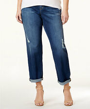 NWT MICHAEL KORS SZ 16W DILLON DISTRESS BOYFRIEND JEANS  PLUS SIZE