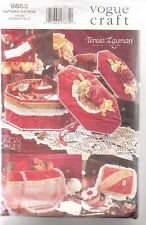 Vintage Vogue Hat Box Sewing Pattern Bag Victorian Jewellery Boxes Pin Cushions