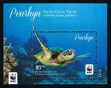 Penrhyn WWF Pacific Green Turtle Stamp Issue Souvenir Sheet