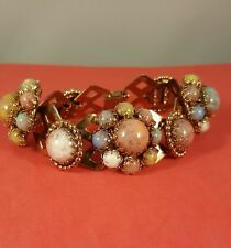 "Beautiful 8"" Womens Multi Colored Faux Beaded Bracklet * *Nice**"