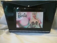 NEW BARBIE DOLL PHOTO STORAGE BOX FAUX PATENT LEATHER 2004 HALLMARK KEEPSAKE