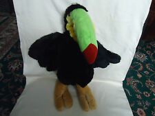 """Animal Land Parrot Very Soft Plush Stuffed Toy  17 """" Used"""