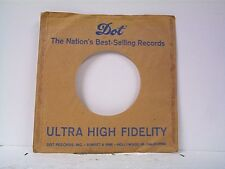 1-DOT RECORD COMPANY 45's SLEEVES  LOT #4-D