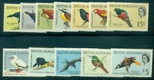BRITISH HONDURAS #167-78 Bird, Complete set, og, LH, VF, Scott for NH $85.50