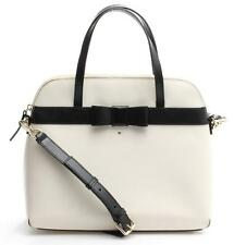 Kate Spade White & Black Leather Kirk Park Maise Convertible Satchel