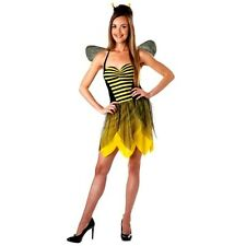 Miss Bee Bumblebee Totally Ghoul Adult Women Yellow & Black Costume Size Small