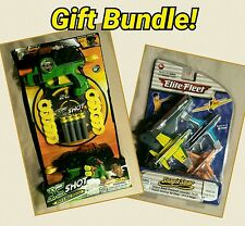 Foam Dart and Disc Blaster and Toy Plane Launcher Toy Bundle Lot!