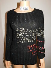 PULL MOHAIR DESIGUAL TAILLE S - REF:E136